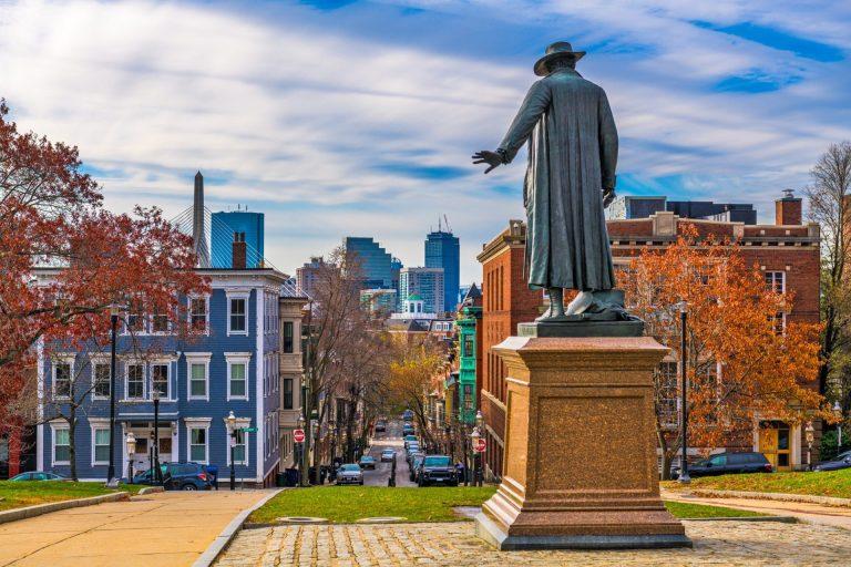 Bunker Hill, Boston, Ma, Usa